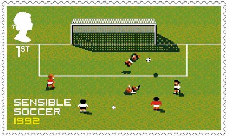 Royal Mail Stamps Sensible Soccer