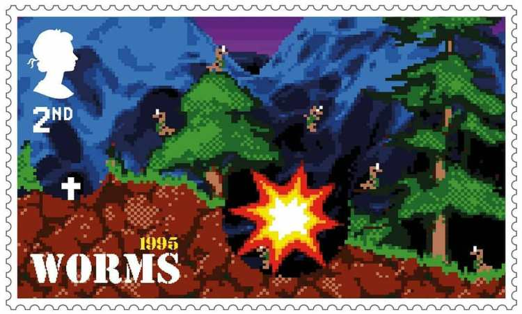Royal Mail Stamps Worms