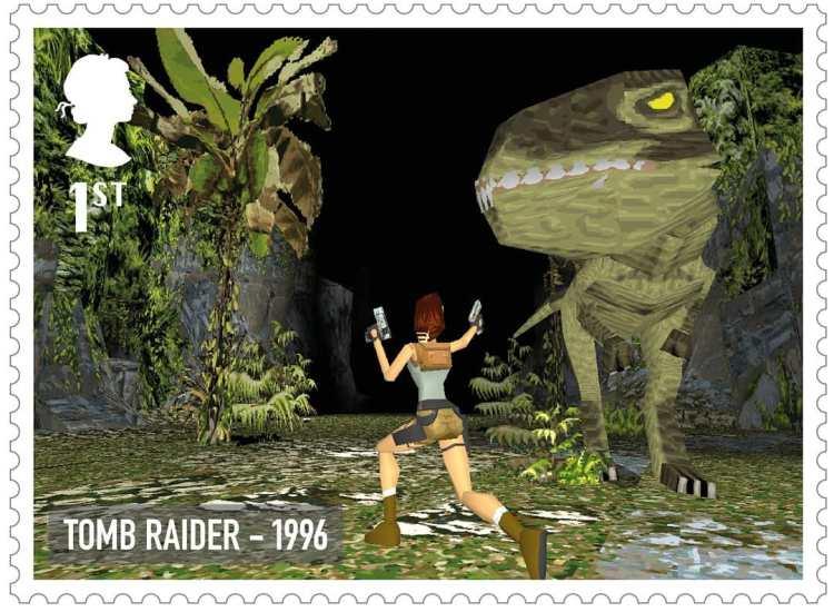 Royal Mail Tomb Raider Stamp 1996