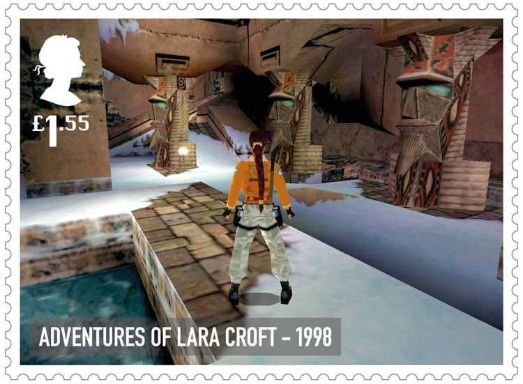 Royal Mail Tomb Raider Stamp 1998