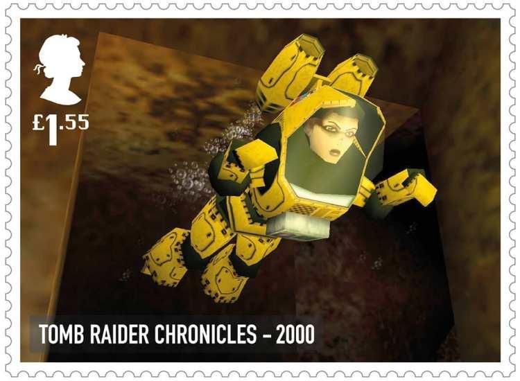Royal Mail Tomb Raider Stamp 2000