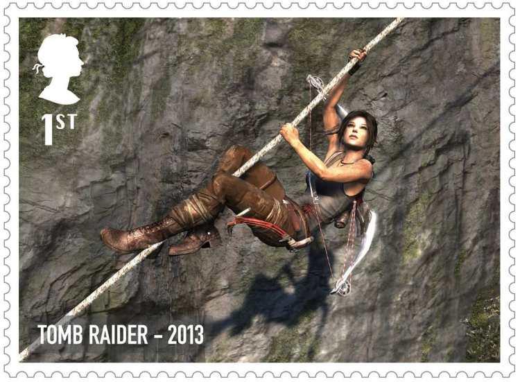 Royal Mail Tomb Raider Stamp 2013