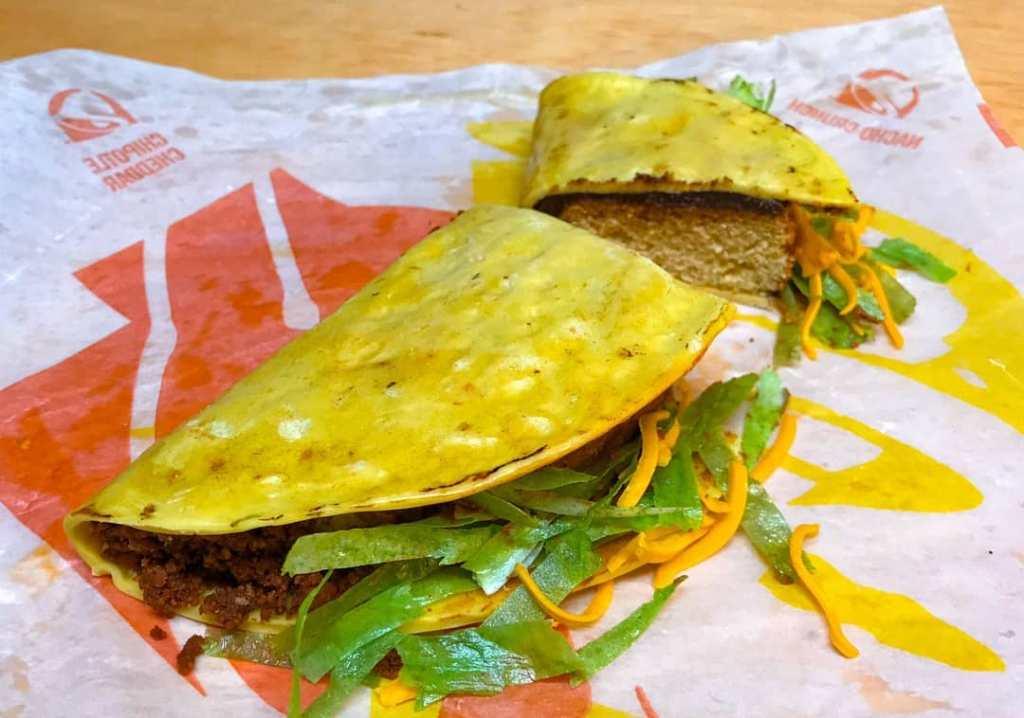Sliced Crunchy Beef Taco Bell Cake