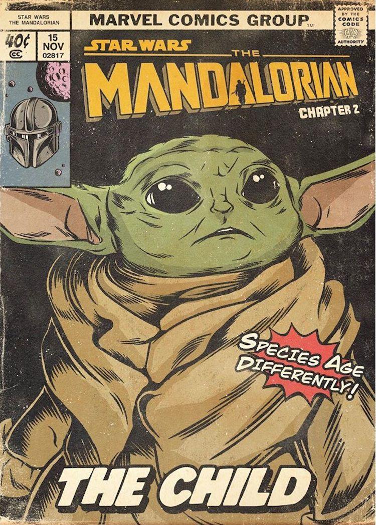 'The Mandalorian' Reimagined as Vintage Comic Books