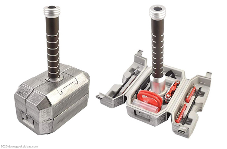 A Cleverly Designed Computer Repair Tool Kit Shaped Like Mjölnir, The Mighty Hammer of Thor