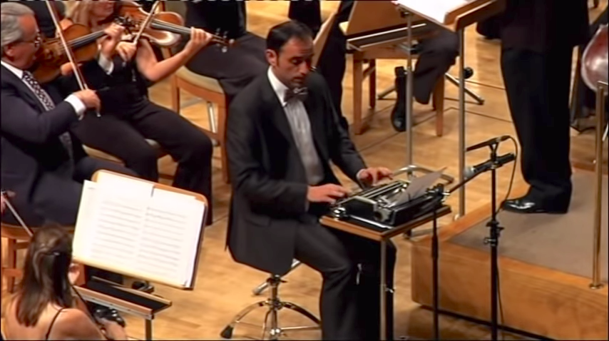 An Amusing Typewriter Performance With an Orchestra