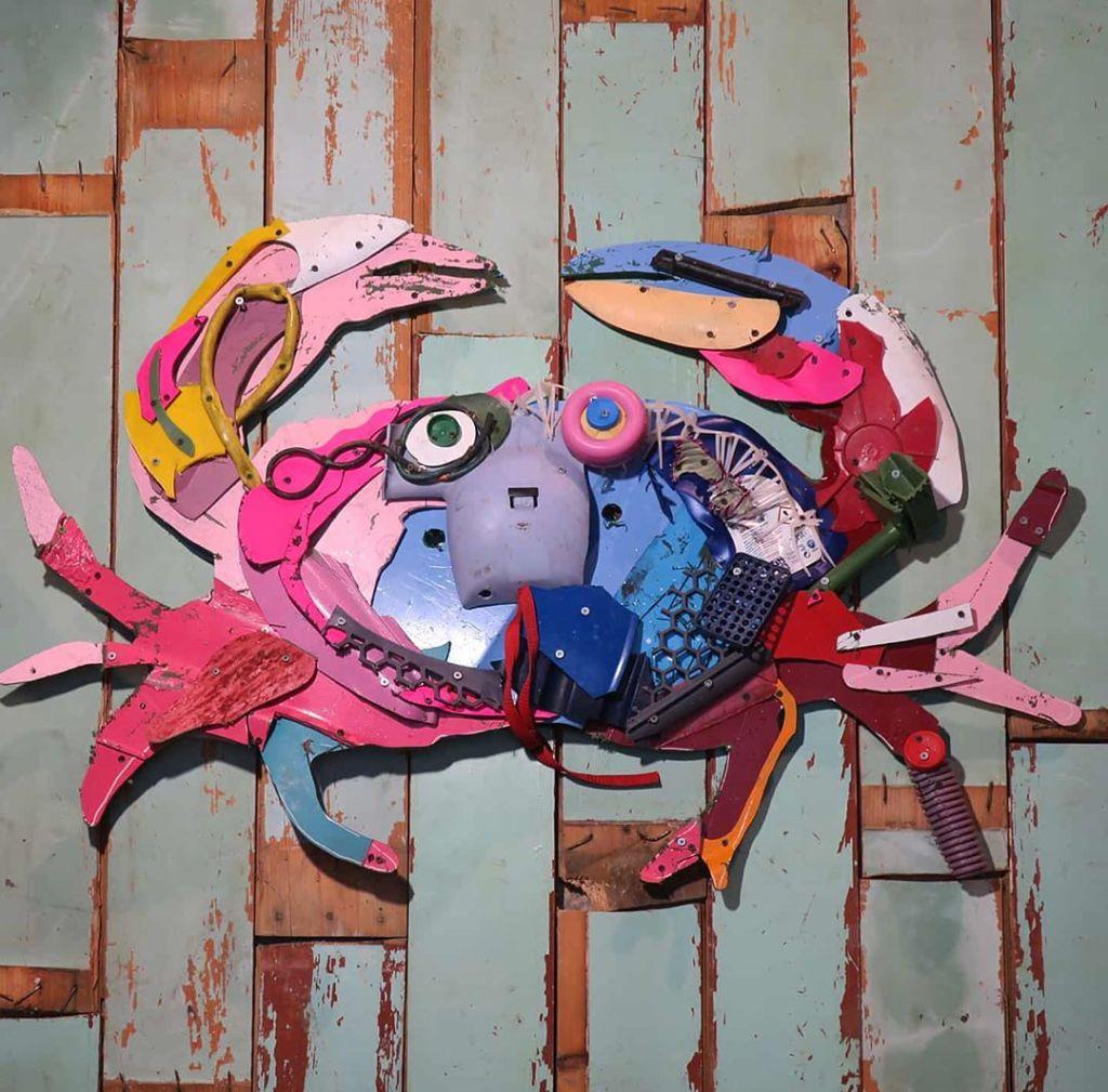 Bordallo II Plastic Trash Crab