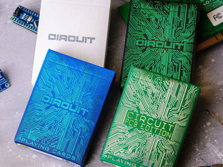 Circuit Board Playing Cards PCB Edition Colors