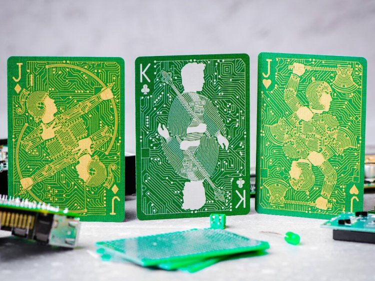 Circuit Board Playing Cards PCB Edition Picture Cards