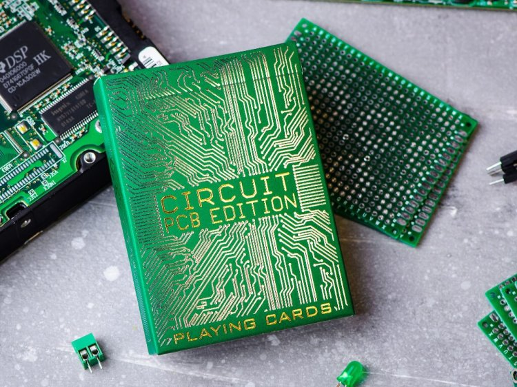 Circuit Board Playing Cards PCB Edition With Board