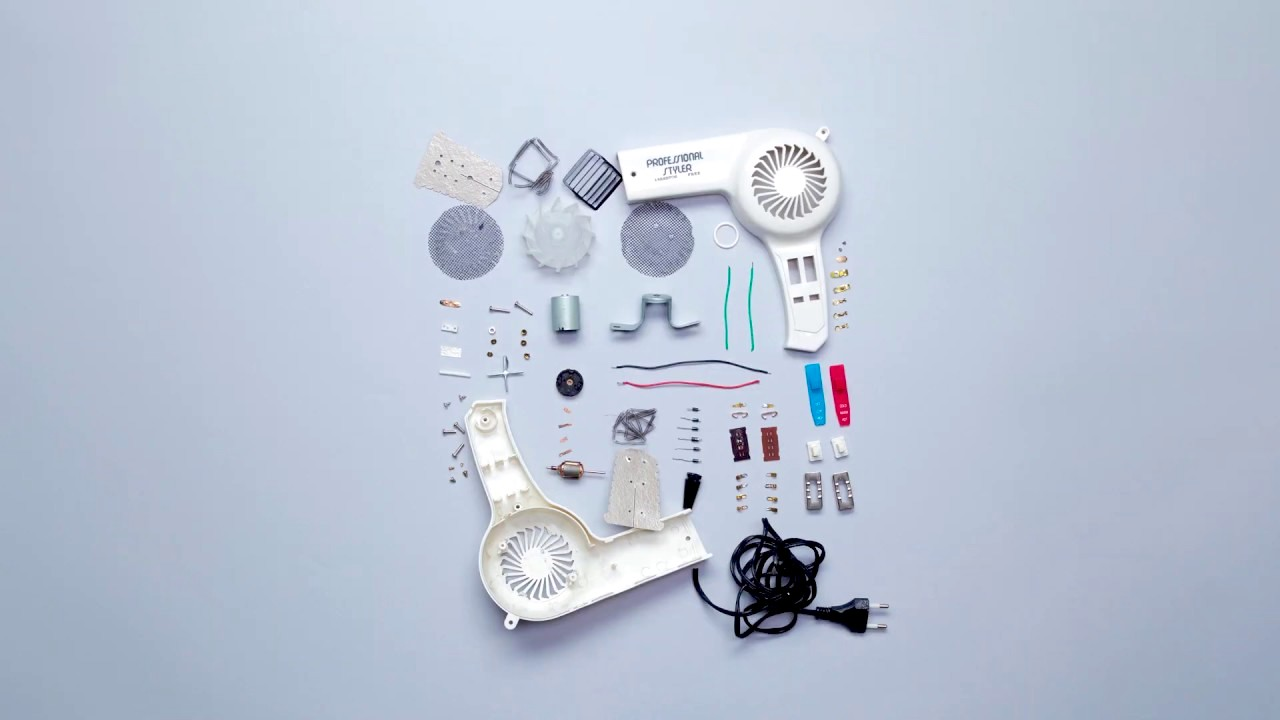 A Stop-Motion Animation That Neatly Displays All the Parts Inside of Discarded Household Electronics