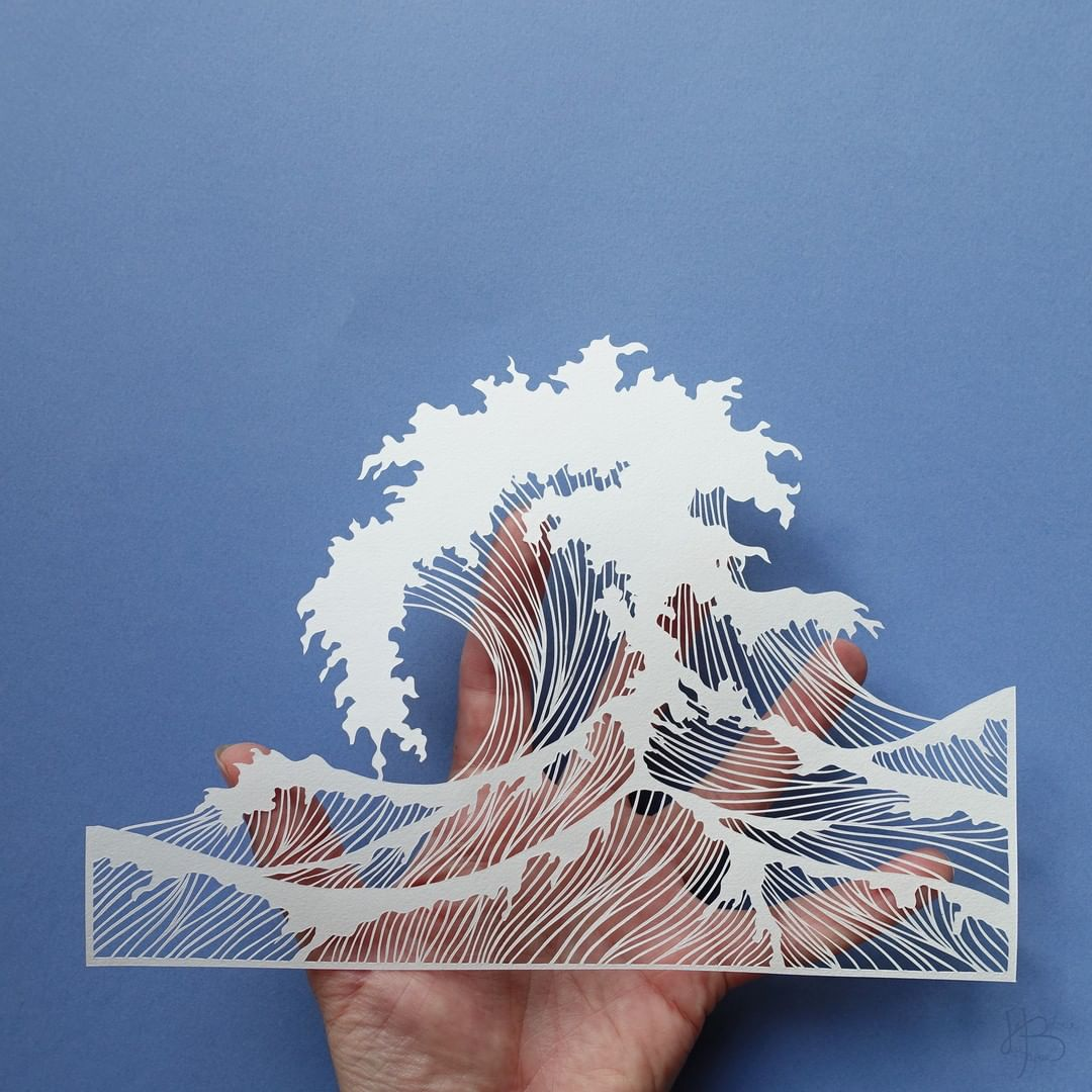 The Great Wave Paper Cut Out