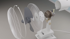 Virtually Dismantling Oscillating Fan