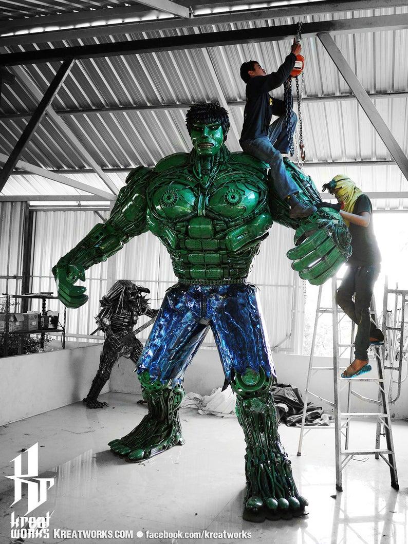 10 Foot Tall Recycled Hulk Ladder