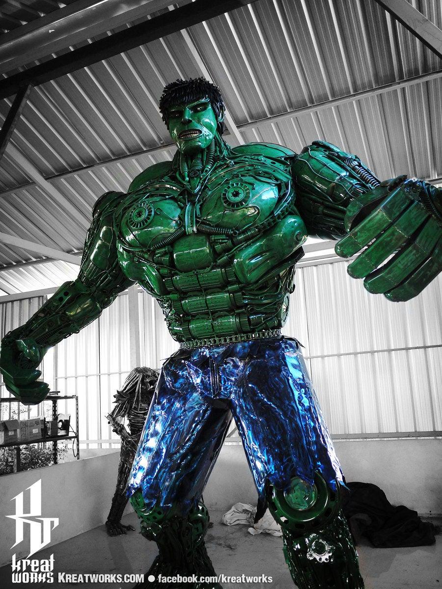 10 Foot Tall Recycled Hulk