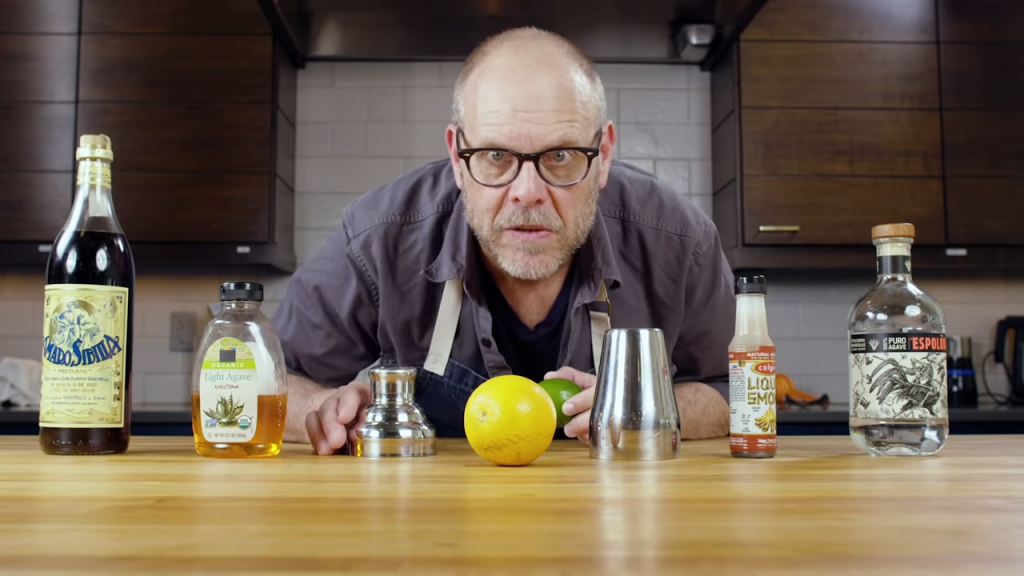 Alton Brown Mixes Up His Signature Smoky Tequila Sour to Help Take the Sting Out of Quarantine Isolation