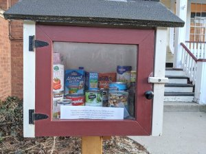 Converted Free Little Library Into Pantry