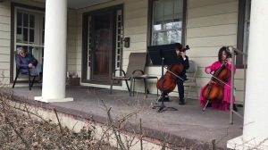 Patio Cello Concerto for Quarantined Neighbor