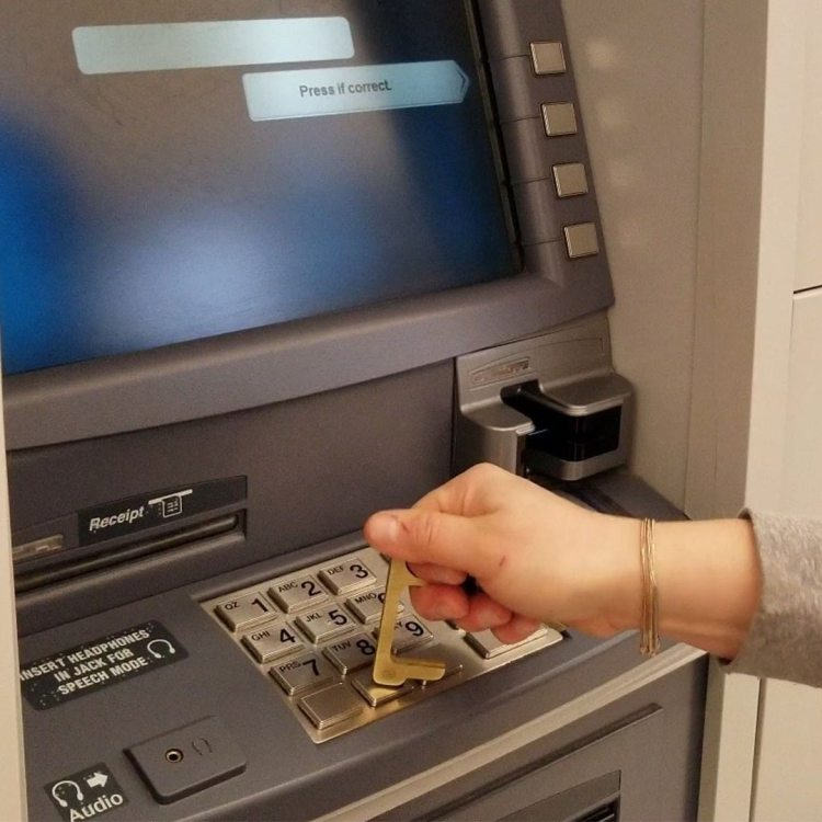Hygiene Hand ATM Keyboard