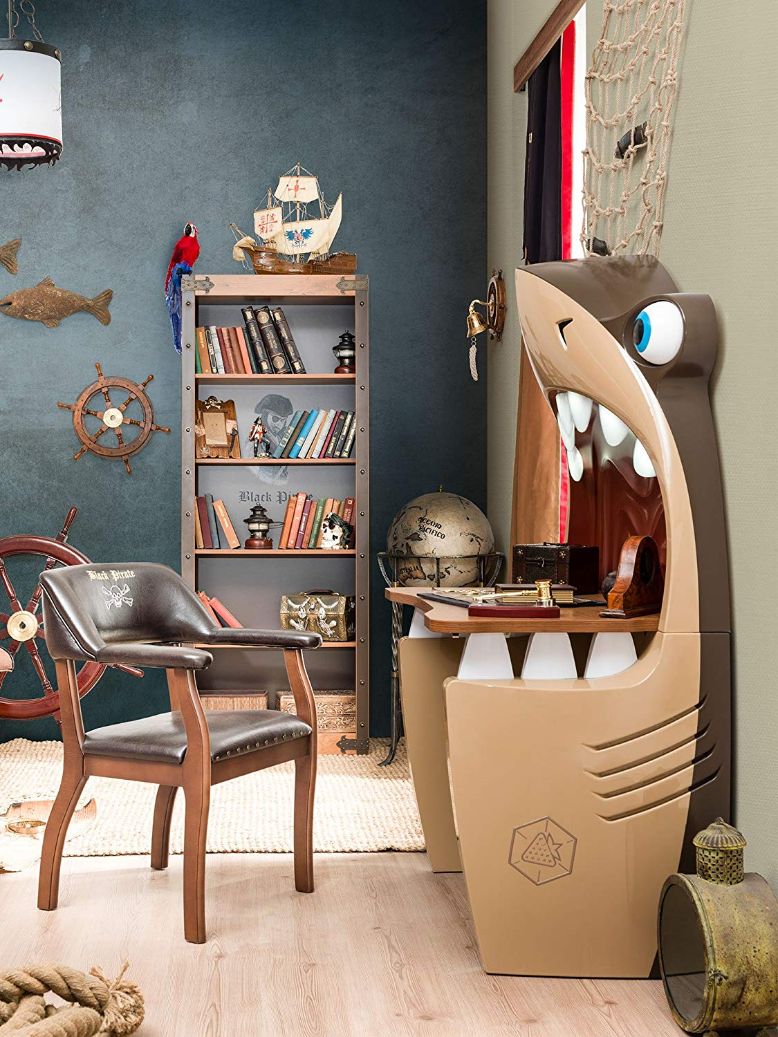 A Cleverly Designed Shark Desk For Kids