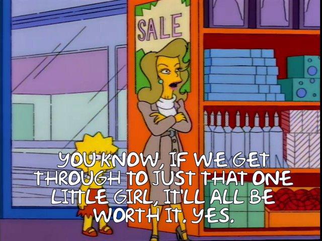 One Little Girl Lisa Simpson
