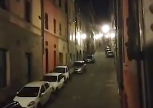 Siena Italy Quarantined Neighbors Sing Together to Empty Streets