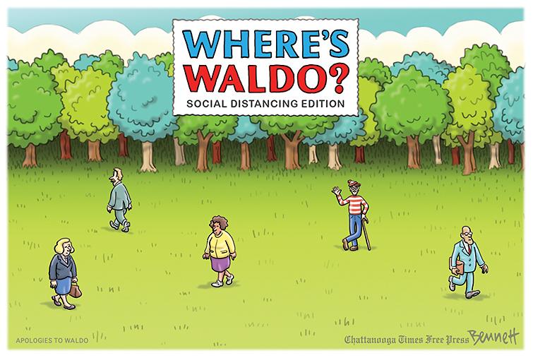 Social Distancing Waldo