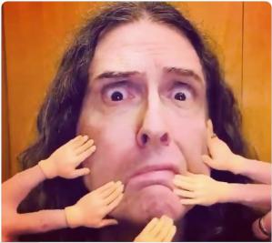 Weird Al Face Touching