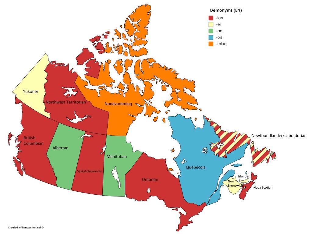 Canada Denomonym