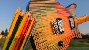 Colored Pencil Flat Stacked Guitar