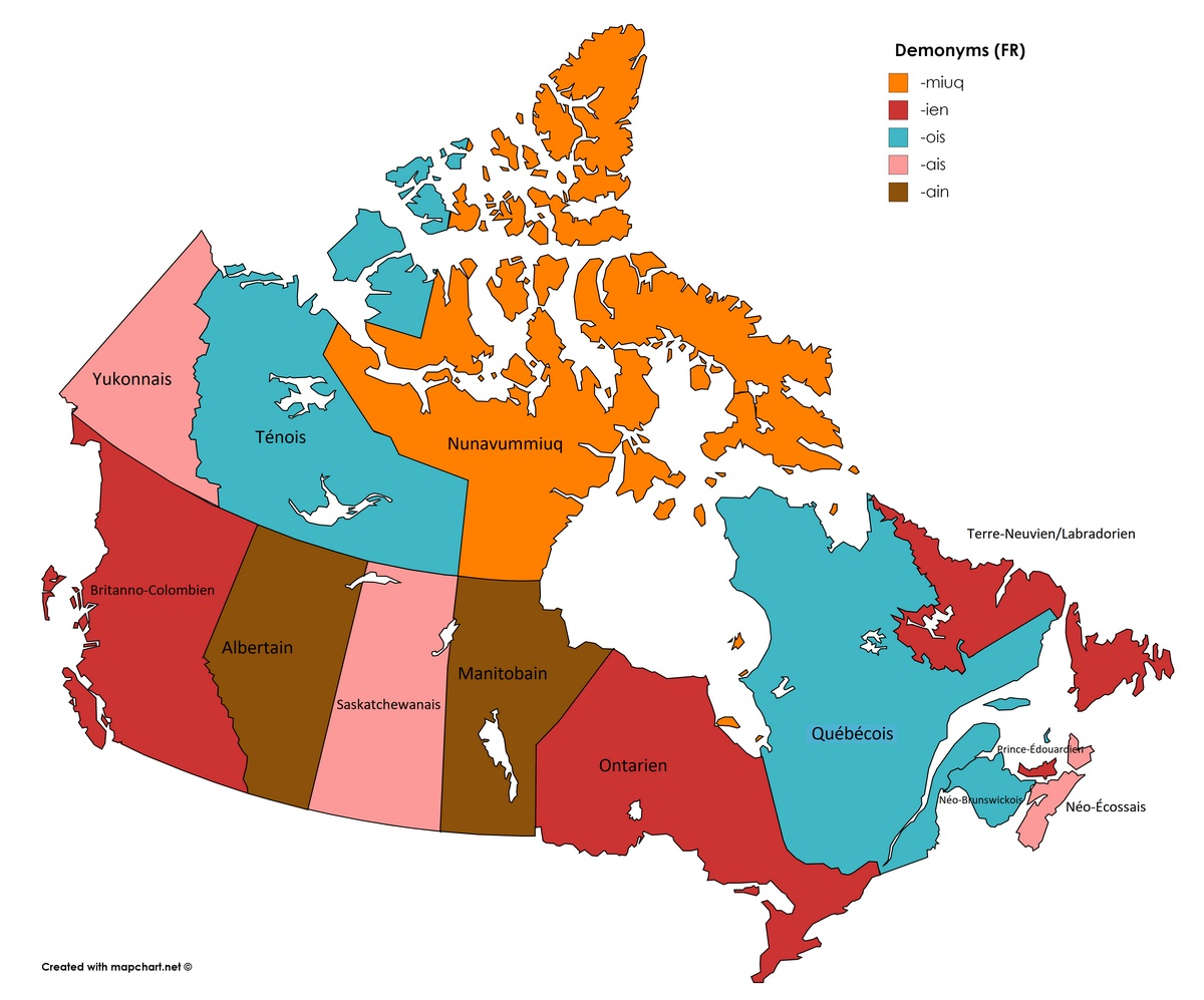 Demonyms of Canada