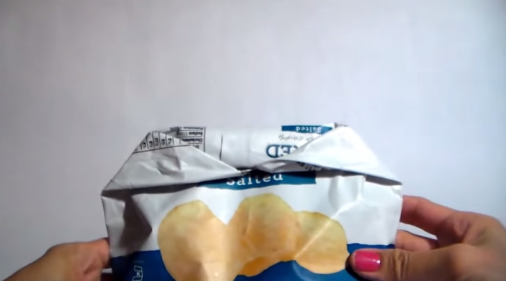 How to Reseal a Bag of Chips Without Using a Clip