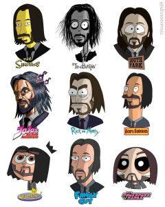 Keanu Reeves Cartoon Characters
