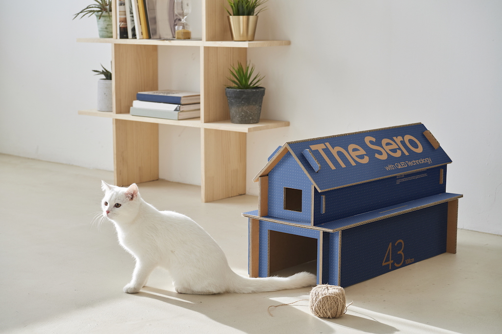 Samsung Serif Ecopackaging Blue Cat House