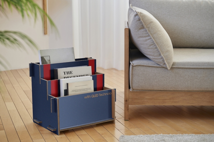 Samsung Serif Ecopackaging Magazine Rack