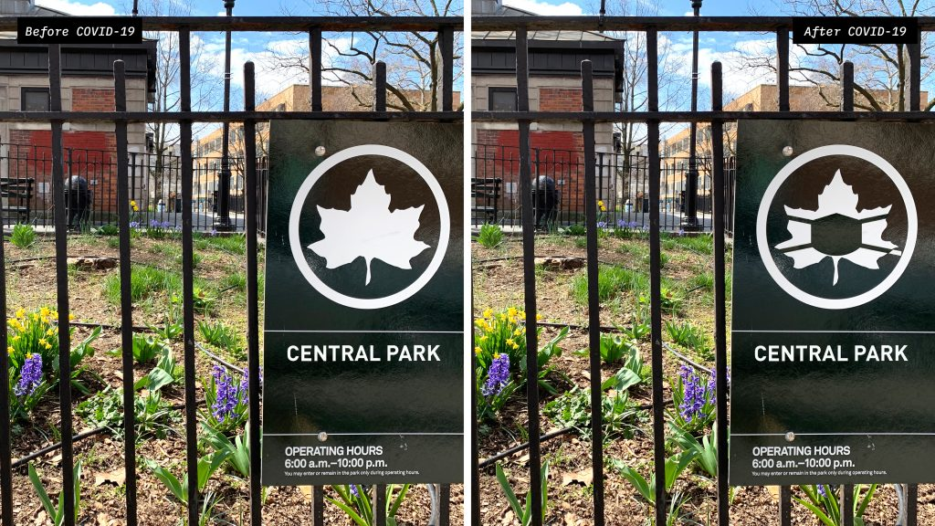 Social Distanced Central Park Sign