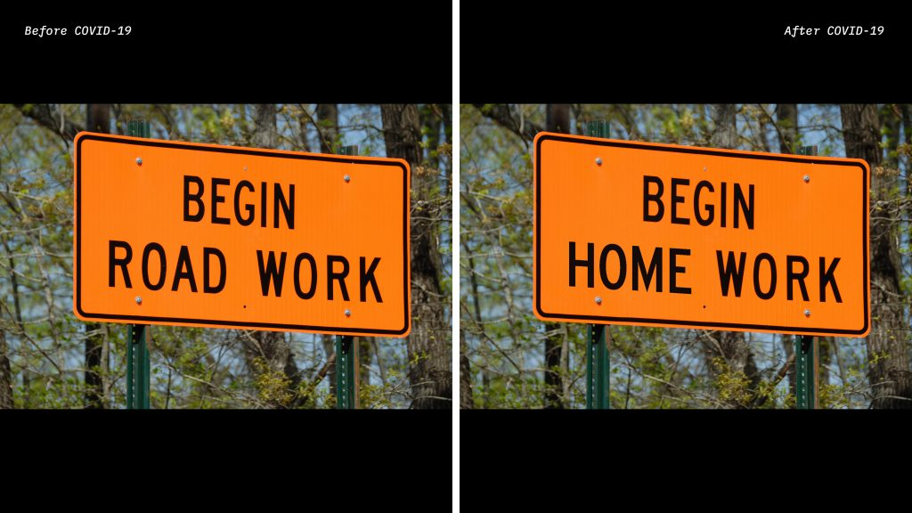 Social Distanced Road Work Sign