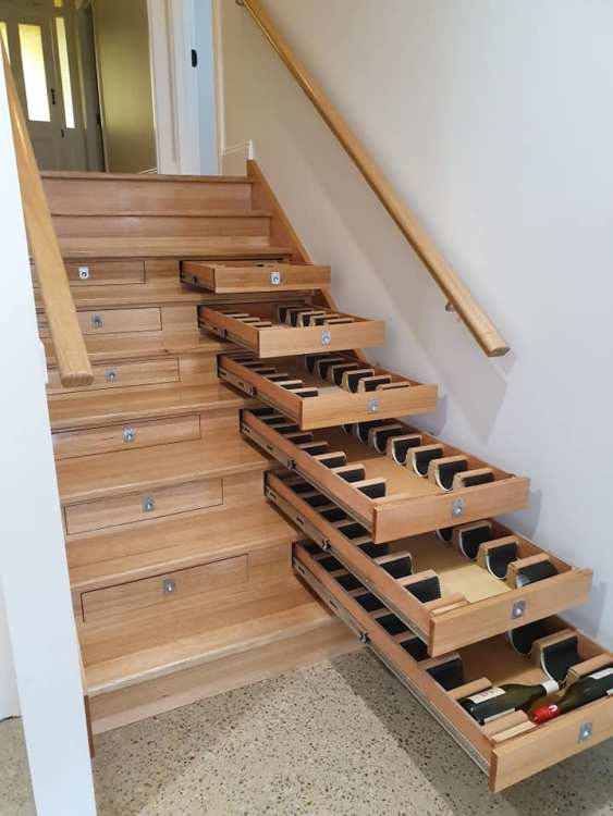 Wine Cabinet Staircase Open