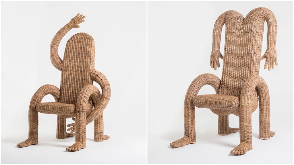 Wonderfully Anthropomorphic Wicker Chairs