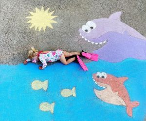 Chalk Adventures Swimming With Fishes