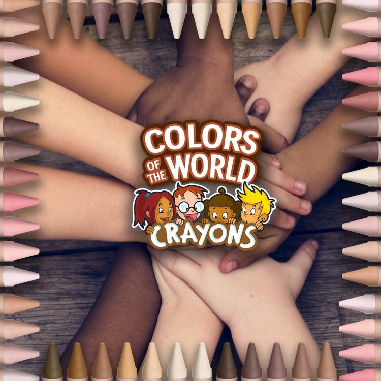 Colors of the World Crayons Hands