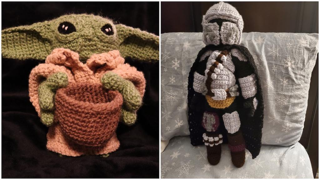 Crocheted Mandalorian and Child