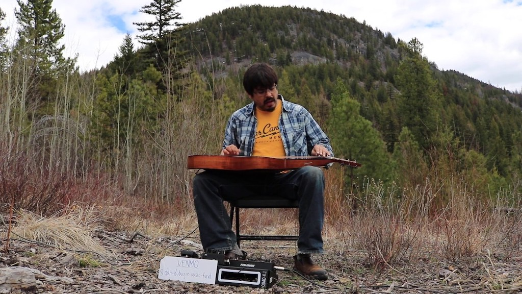 A Beautiful Slide Guitar Cover of the Nirvana Song 'Heart-Shaped Box' Performed in the Montana Outdoors
