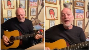 David Gilmour Rehearses With Chick on Head