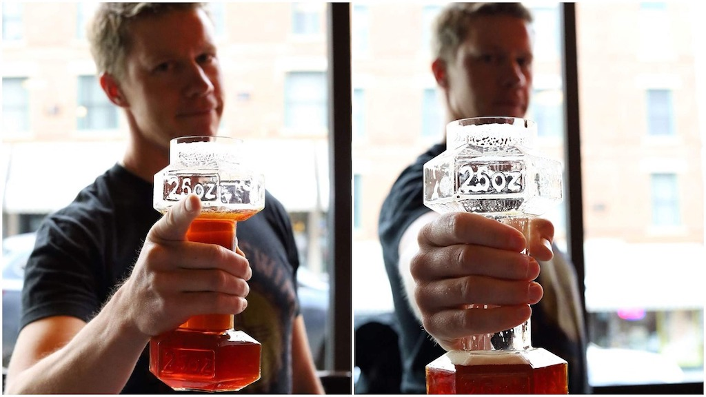 Dumbbell Beer Glass