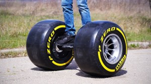 Hoverboard With Formula One Wheels