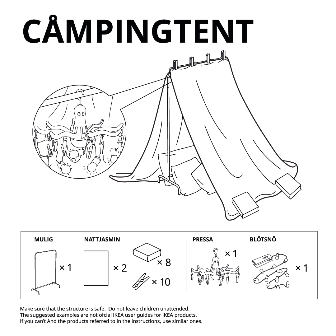 IKEA Forts Camping Tent