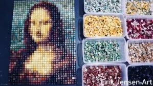 Mona Lisa Keyboard Mosaic