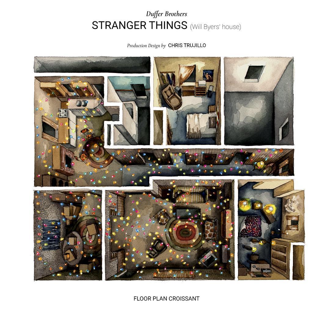 Stranger Things Floor Plan Overhead Floor Plan Croissant