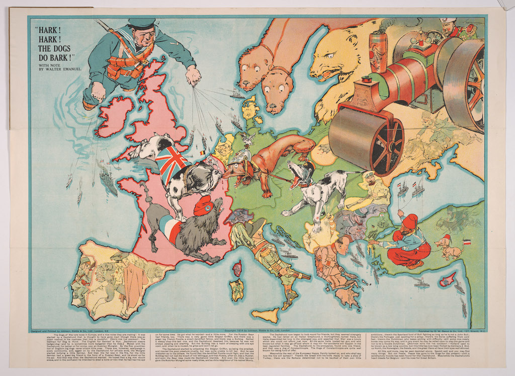 How Political Satire Was Expressed With Monstrous Animals, Creatures and Men on Serio-Comic Maps